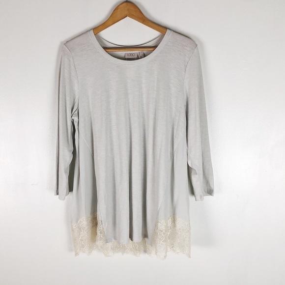 Logo Cotton Top Lace Back Panel -Breeze Sz L